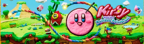 Banner Kirby and the Rainbow Paintbrush