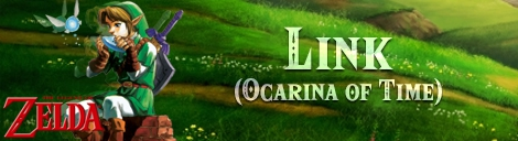 Banner Link Ocarina of Time - The Legend of Zelda Collection