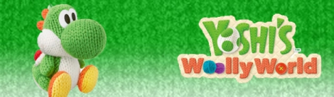 Banner Green Yarn Yoshi - Yoshis Woolly World series