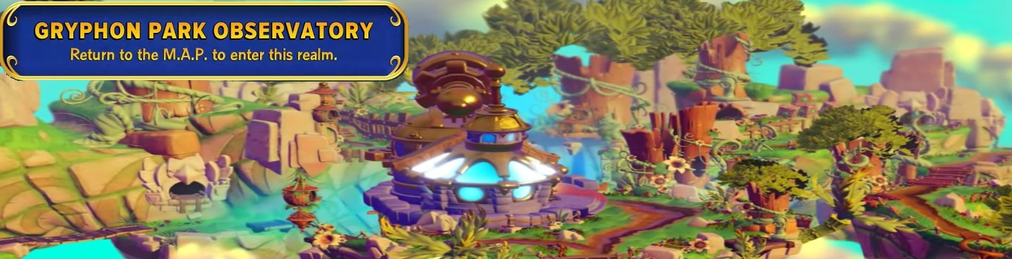 Banner Gryphon Park Observatory - Skylanders Imaginators New Level