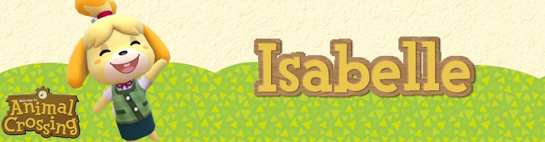 Banner Isabelle - Animal Crossing Collection