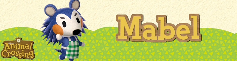 Banner Mabel - Animal Crossing Collection