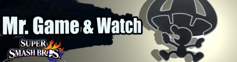 Banner Mr Game and Watch Nr 45 - Super Smash Bros series