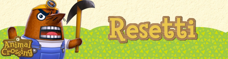 Banner Resetti - Animal Crossing Collection