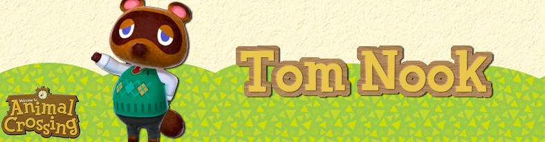 Banner Tom Nook - Animal Crossing Collection