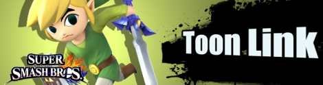 Banner Toon Link Nr 22 - Super Smash Bros series