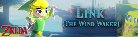 Banner Toon Link The Wind Waker - The Legend of Zelda Collection