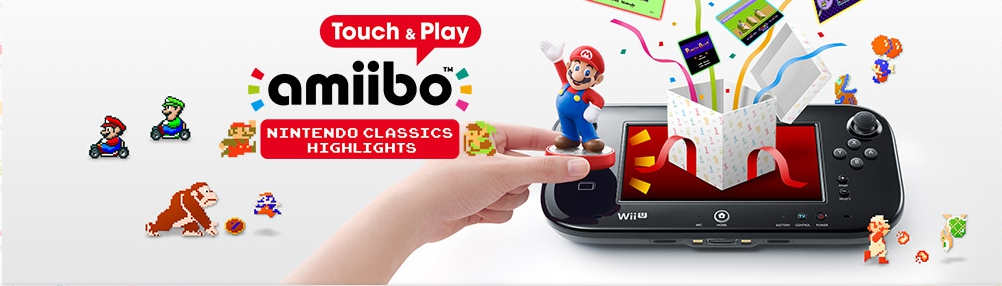 Banner amiibo Touch and Play Nintendo Classics Highlights