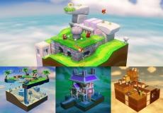 Review Captain Toad: Treasure Tracker: De game bevat veel gevarieerde levels, waarbij je onderdelen van de levels kunt activeren met behulp van de GamePad.