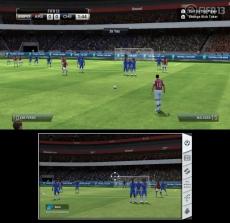 Review FIFA 13: Maar je kunt ook richten bij vrije trappen door de GamePad te bewegen. Schiet je de bal er nu wel in?