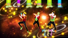 Review Just Dance 2017: Elke kleur hoort bij een speler. Hierdoor kan je jou score volgen.