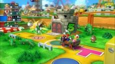 Review Mario Party 10: Net als in Mario Party 9 ga je met z'n allen in een voertuig over het spelbord.