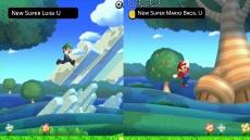 Review New Super Luigi U: Luigi springt hoger dan Mario, waardoor hij op hoger gelegen plekken kan komen.