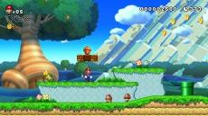 Review New Super Mario Bros. U: Gebruik de Super Acorn om korte stukjes te zweven.