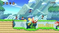 Review New Super Mario Bros. U: Met je Mii-personage spelen is ook een optie.