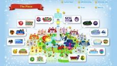 Review Nintendo Land: Dit is Nintendo Land Plaza, het park. Vanaf dit centrale punt kies je één van de 12 omringende attracties.