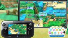 Review Nintendo Land: De <a href = http://www.mariowii-u.nl>Wii U</a> GamePad wordt op alle mogelijke manier ingezet. In deze <a href = http://www.mariowii-u.nl/Wii-U-spel-info.php?t=Animal_Crossing_amiibo_Festival>Animal Crossing</a>-attractie speelt 1 speler op de GamePad, de rest op de TV.