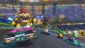 In Mario Kart Stadium juicht het publiek je toe wanneer je in antizwaartekracht een helling op rijdt!