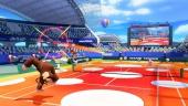 Door de paddenstoelen stuitert de bal extra hoog, dus maak gebruik van Jump Shots!