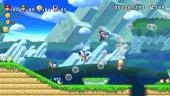 Vang vijanden en muntjes in zeepbellen met de blauwe baby-Yoshi's.
