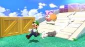 Luigi! Luigi springt aanzienlijk hoger dan de andere karakters, maar rent niet zo snel.