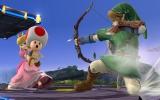 Hier zie je Peach die haar Toad-Counter op Link uitvoert.
