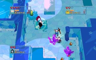 De dungeons hebben verschillende thema's, zoals dit ijsthema.