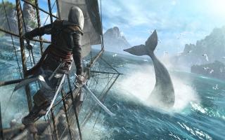 Je leidt je eigen piratenschip, de Jackdaw, door het Caraïbische gebied uit de vroege 18e eeuw.