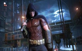 Maak voor het eerst in de Arkham-games kennis met Robin, Batman's gemaskerde assistent.