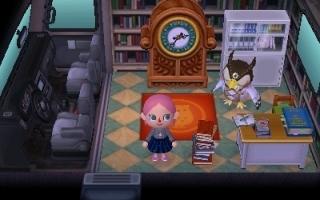 Nodig Blathers uit in <a href = https://www.mariowii-u.nl/Wii-U-spel-info.php?t=Animal_Crossing_amiibo_Festival>Animal Crossing</a>: New Leaf.