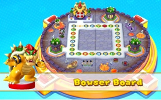 Scan de <a href = https://www.mariowii-u.nl/Wii-U-spel-info.php?t=Bowser_Nr_20_-_Super_Smash_Bros_series>Bowser amiibo</a> in om in amiibo mode op Bowser&apos;s bord in <a href = https://www.mariowii-u.nl/Wii-U-spel-info.php?t=Mario_Party_10>Mario Party 10</a>
