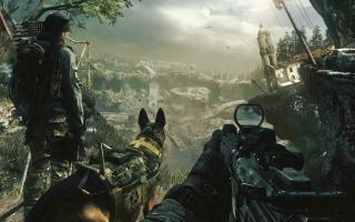 Voor degenen die zeggen dat elke Call of Duty hetzelfde is: deze game heeft een Hond! Awww...