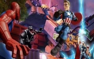 Captain America in gevecht tegen vijanden.