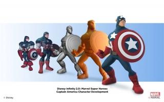De verschillende ontwerpen voor Captain America.