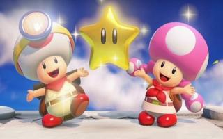 Doorloop (dus niet springen) met deze twee avonturiers, Captain Toad en Toadette, veel 3D-levels.