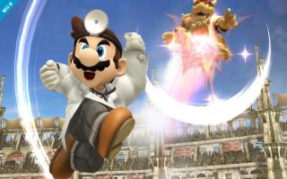Neem het op tegen Dr Mario in <a href = https://www.mariowii-u.nl/Wii-U-spel-info.php?t=Super_Smash_Bros_for_Wii_U>Super Smash Bros</a>. voor Wii U en 3DS.