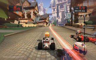 Qua toon houdt de game een mooi midden tussen Mario Kart en serieuzere racespellen.