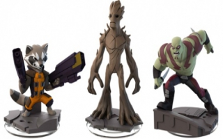Zie hier 3 van de Guardians of the Galaxy figuren.