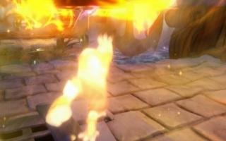 <a href = https://www.mariowii-u.nl/Wii-U-spel-info.php?t=Tae_Kwon_Crow_-_Skylanders_Imaginators_Sensei>Tae Kwon Crow</a>s Sky-Chi schiet brandende ninjasterren. Krijg deze op de paddenstoelenrivier.
