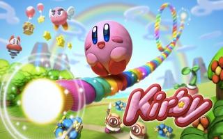 Het hele spel speel je met dit schattige roze bolletje, Kirby!