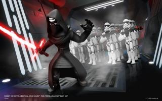 Kylo Ren met zijn Stormtroopers in <a href = https://www.mariowii-u.nl/Wii-U-spel-info.php?t=Disney_Infinity_30_Star_Wars_Starter_Pack>Disney Infinity 3.0</a>