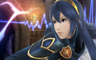 Lucina in <a href = https://www.mariowii-u.nl/Wii-U-spel-info.php?t=Super_Smash_Bros_for_Wii_U>Super Smash Bros for Wii U</a>.