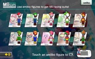 Met een Luigi-amiibo speel je een Luigi racekostuum voor je Mii vrij in Mario Kart 8.