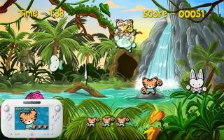 De jungle zit vol met dieren, zoals aapjes, tijgers en... pinguïns?