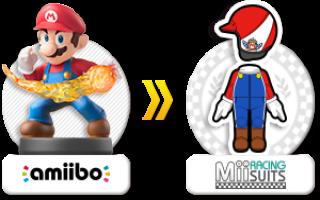 Verkrijg een Mario-kostuum voor je Mii in <a href = https://www.mariowii-u.nl/Wii-U-spel-info.php?t=Mario_Kart_8>Mario Kart 8</a> met deze amiibo.