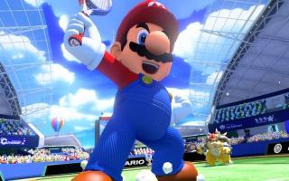 Mario en co. zijn weer helemaal klaar om een potje te tennissen.