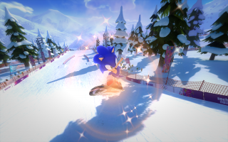 Voer de gaafste stunts uit tijdens het snowboarden voor meer punten.