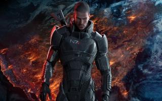 Kies of je in een mannelijke of vrouwelijke vorm van  Commander Shepard kruipt.