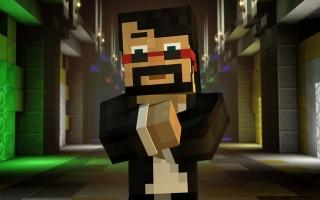 Een aantal bekende <a href = https://www.mariowii-u.nl/Wii-U-spel-info.php?t=Minecraft_Wii_U_Edition>Minecraft</a>-YouTubers verschijnen ook, zoals CaptainSparklez hier.