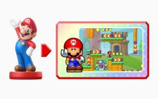 De <a href = https://www.mariowii-u.nl/Wii-U-spel-info.php?t=Mario_Nr_1_-_Super_Smash_Bros_series>Mario Amiibo</a> uit Mario Party wordt opwindspeelgoed als je hem tegen de GamePad houdt!